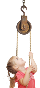 Child with pulley
