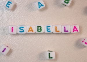 Blocks spell Isabella