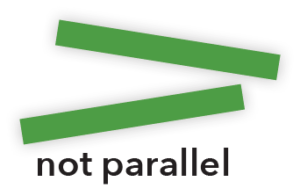not parallel lines