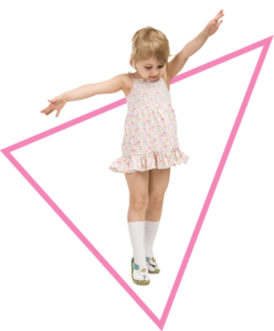 Child and triangle