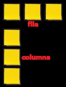 Filas y columnas