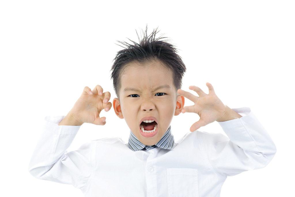 Child imitating animal movements