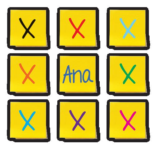 3 by 3 sticky note grid