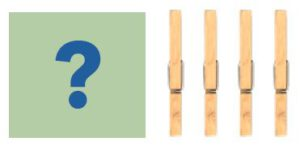 Question Mark and 4 clothespins