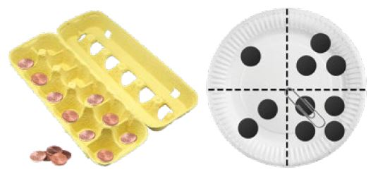 Egg carton and paper plate spinner