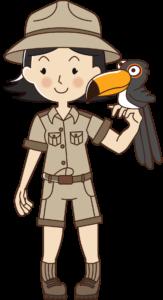 Zoo Keeper with bird