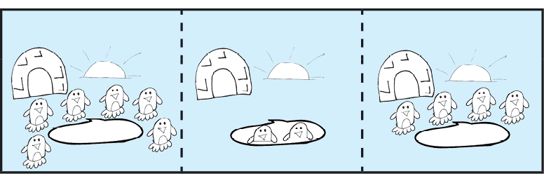 three section example illustration