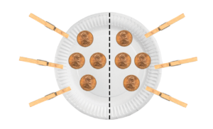 Paper plate clothespin challenge