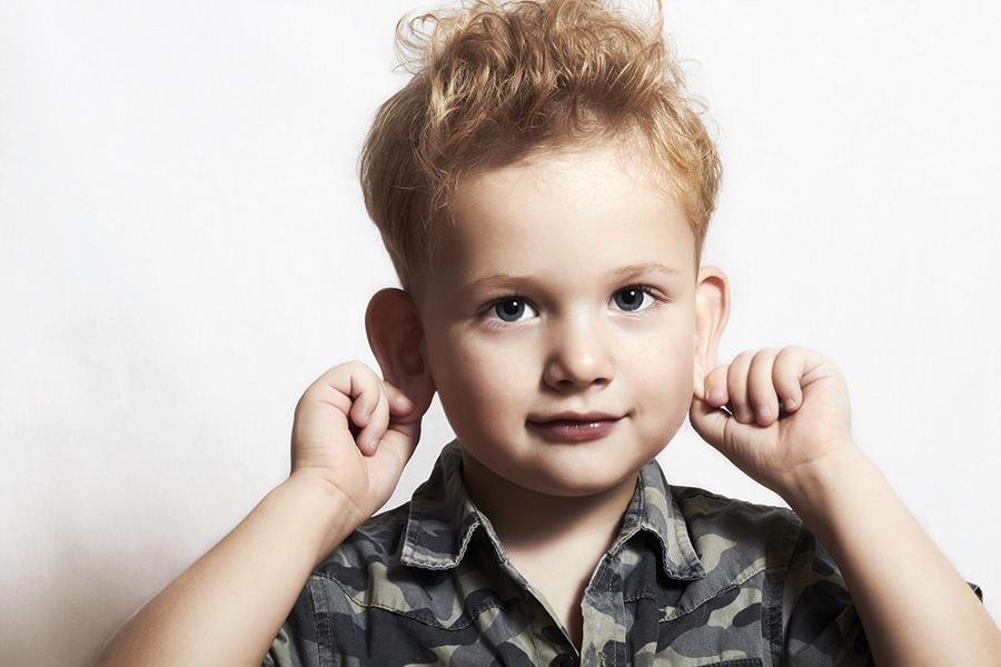 Child pulling ears