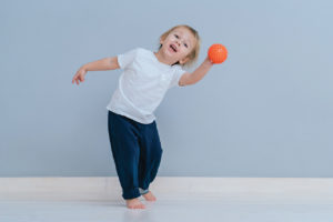 Child with ball