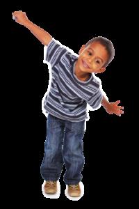 Child moving in rhythm