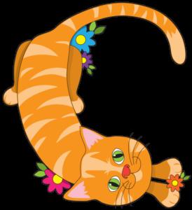 Cat shaped as C