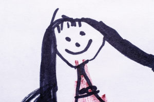 Child drawing of girl